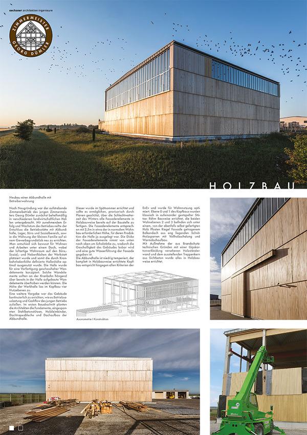 Zimmerei Duemler GmbH nomiert beim Holzbaupreis 2017