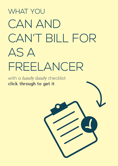 A handy guide for determining what you should and shouldn't bill for as a freelancer.
