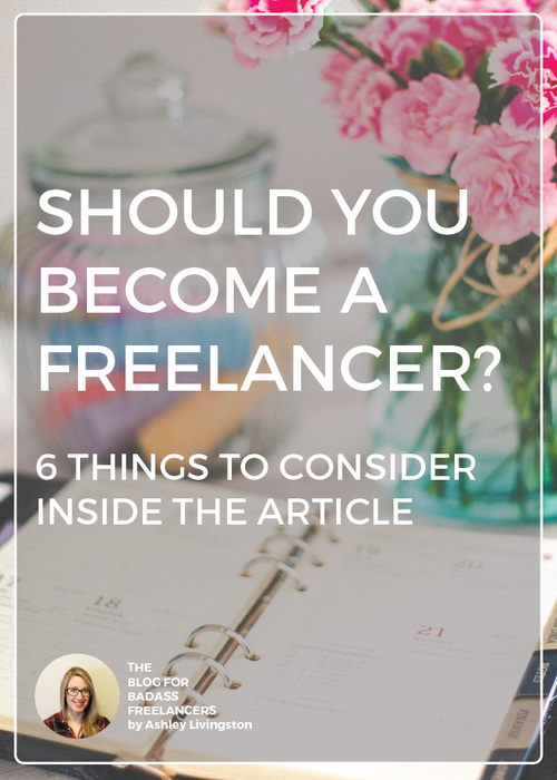 Should you become a freelancer? This article covers six things to consider when trying to decide if this is the right career move for you.  Assess your skills and strengths and see if it's a good fit.