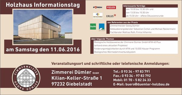 Holzhaus Informationstag