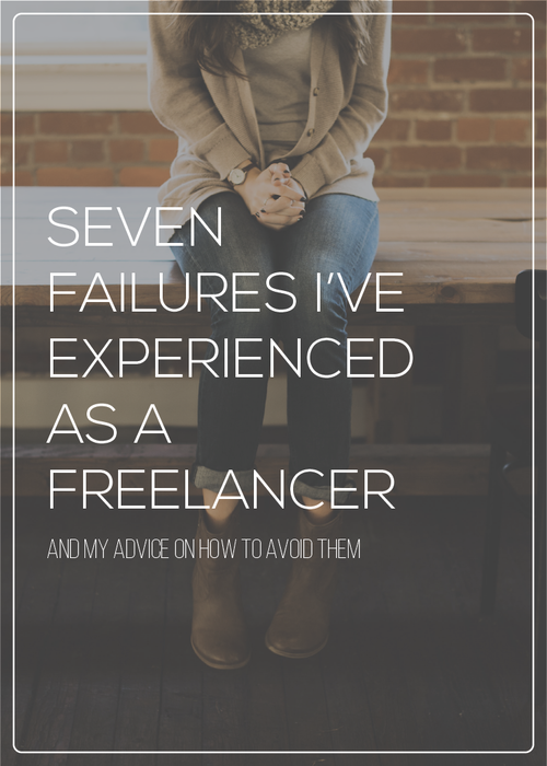 In my time as a freelance web developer, I have experienced a lot of failures.  Luckily, I learned how to overcome them and am sharing my advice on what I struggled with and how to avoid the same issues.