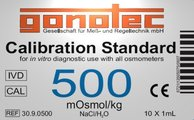 500 mOsmol/kg calibration standard