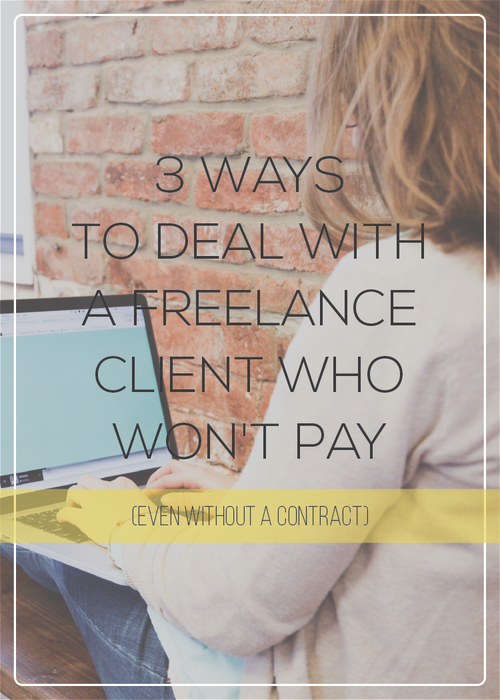 Some possible ways to recoup your freelance fee from a client who isn't paying their invoices.