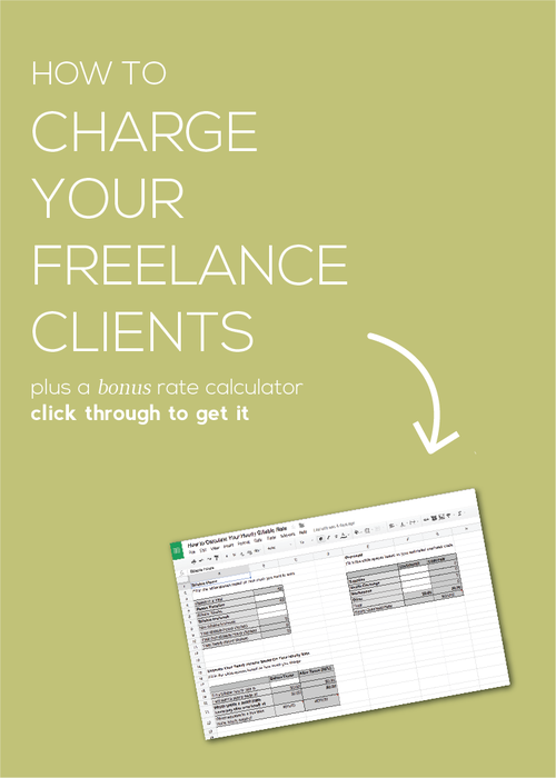 Get this super nifty flowchart for determining how to charge your freelance web design clients based on the type of job, the type of client, and your relationship with them. Learn why charging a per project fee instead of by the hour is best, plus get the really awesome BONUS freelance rate calculator to help you determine your minimum acceptable hourly rate.